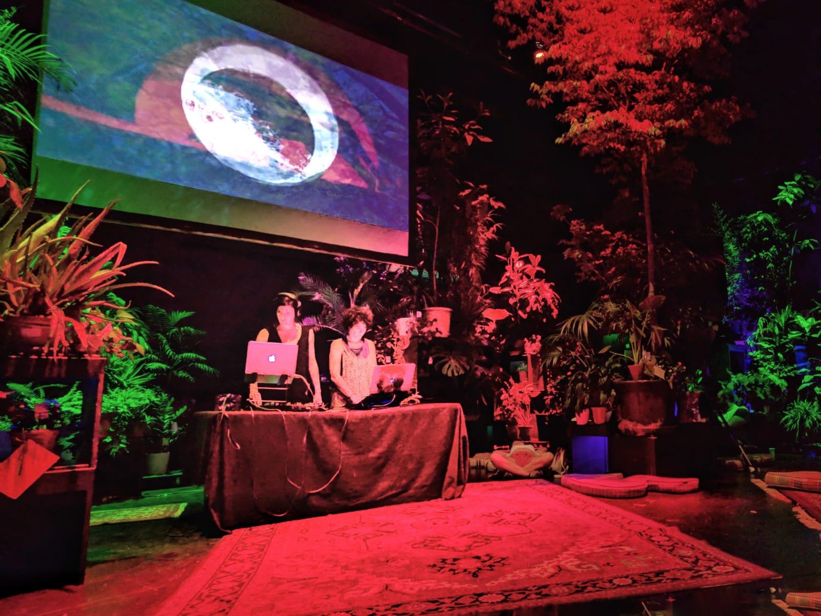 Garden State Conde Duque Madrid Icaro DJ Sharouh VJ Nidra Fabiola Simonetti