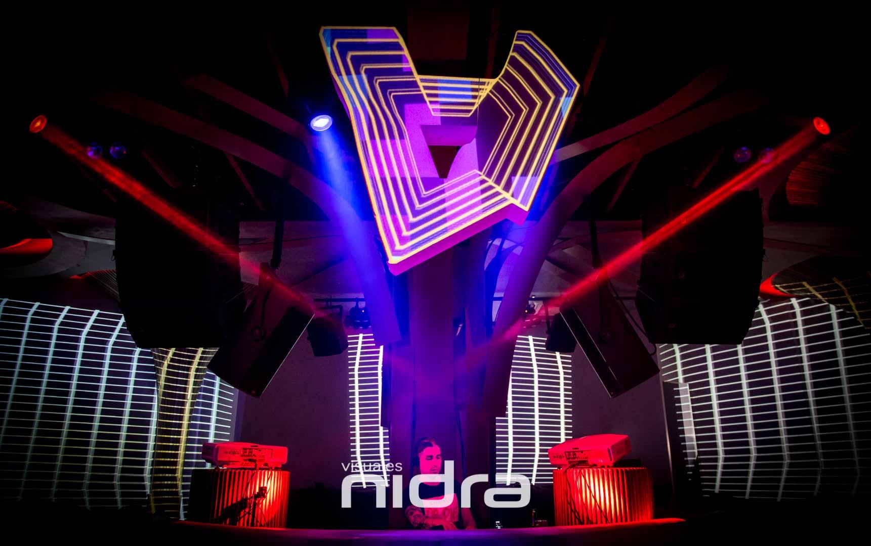 Visuales Nidra Nemaniax Video Mapping Momento Marbella DJ Luciano
