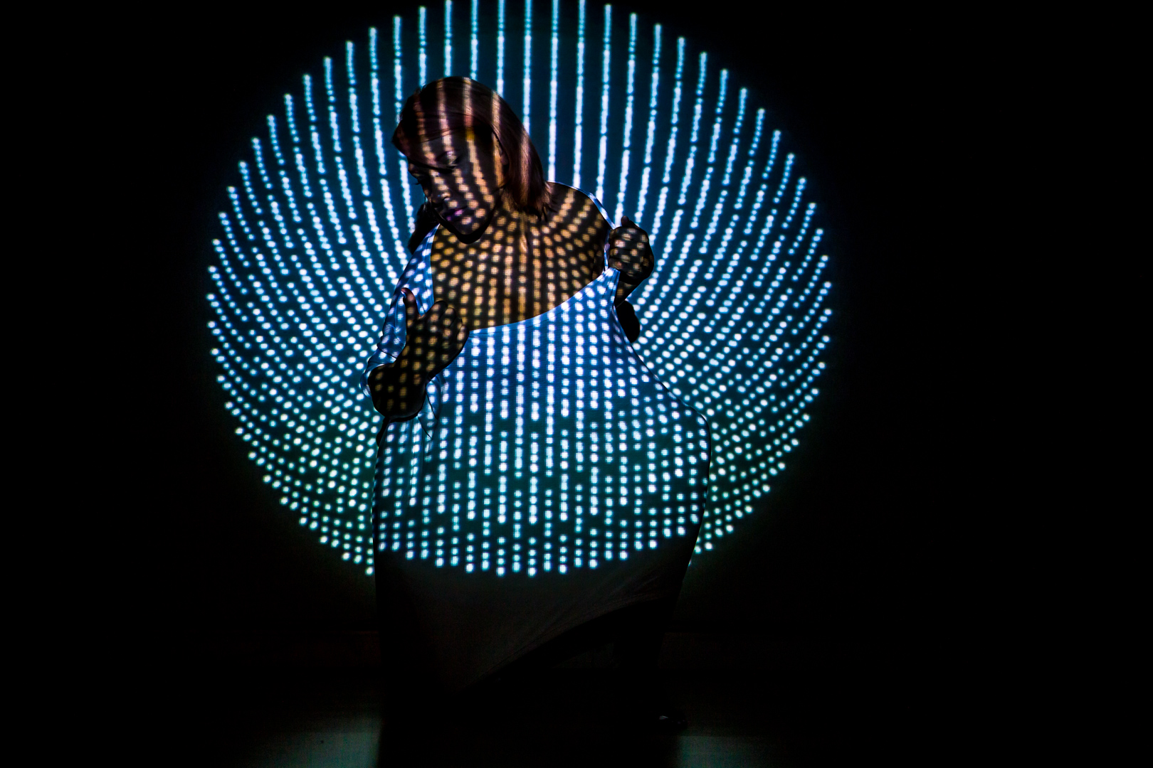 Nilda Ayala video mapping antipose Visuales Nidra