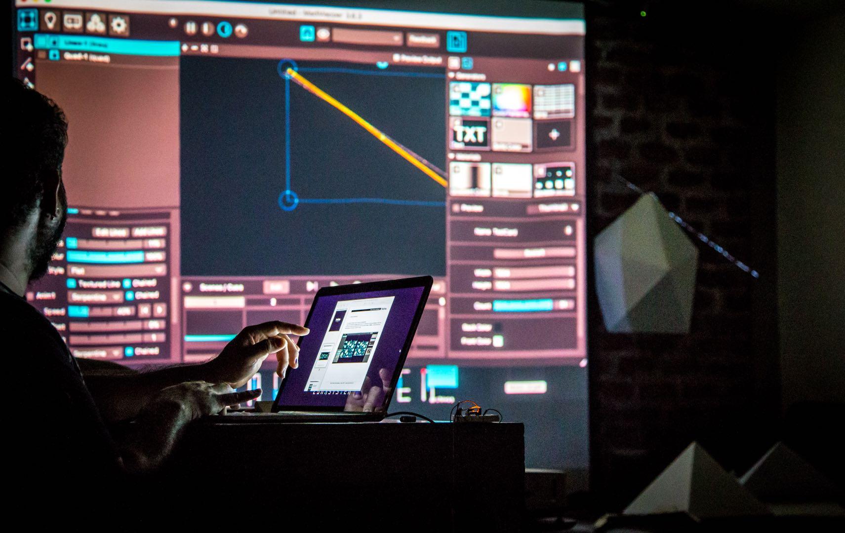 visuales nidra taller videomapping proyection