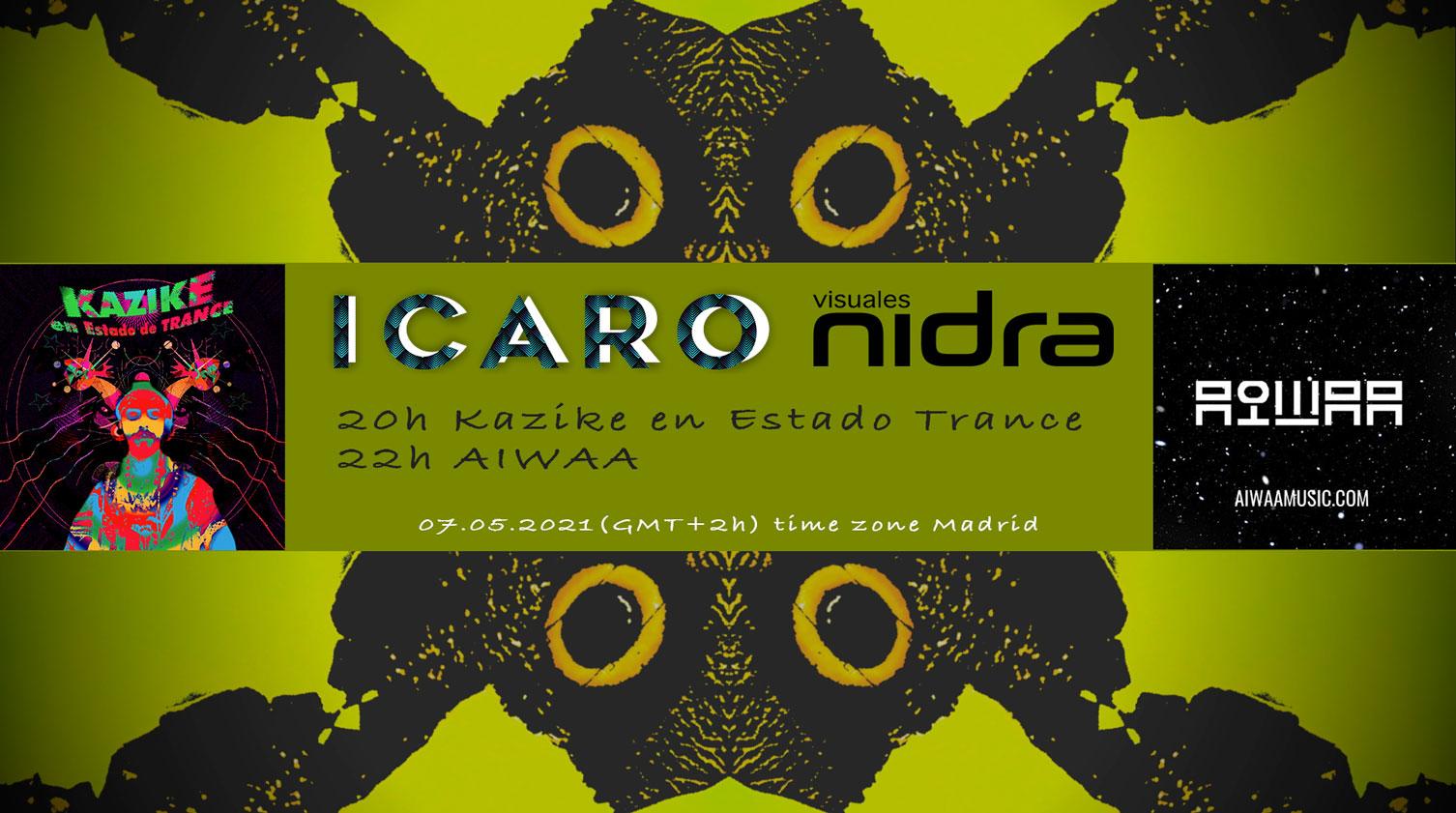 Aiwaa Kazike en Estado de Trance Icaro streaming session nidratv nidra tv Visuales Nidra