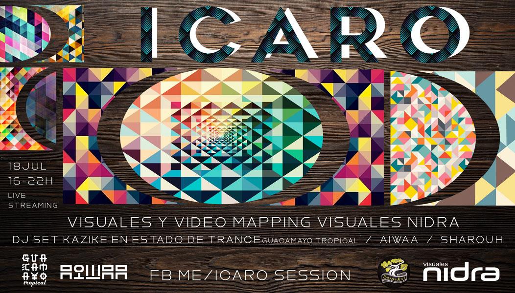 Icaro session AIWAA Kazike en Estado de Trance Guacamayo Tropical Sharouh Visuales Nidra
