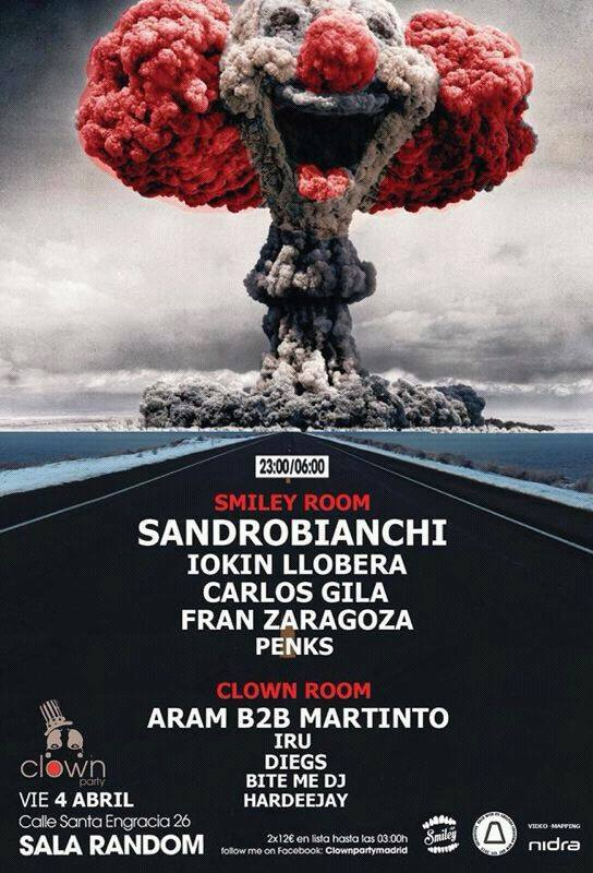 Clown Party Sandro Bianchi Iokin Llobera Sala Random Madrid Visuales Nidra